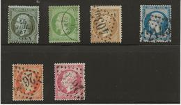 NAPOLEON III - EMPIRE FRANC - N° 19 A 24 OBLITERE - TB - ANNEE 1862 - COTE : 147 € - 1862 Napoleon III