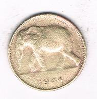 1 FRANC 1944  BELGISCH CONGO /1259/ - Congo (Belgian) & Ruanda-Urundi