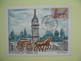 Carte  - Journée Du Timbre  1963   Rouen - Brieven En Documenten