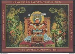 MONGOLIA, 2016, MNH, MONGOL EMPIRE, MUSICAL INSTRUMENTS WARRIORS, WOLVES, BIRDS, S/SHEET - History