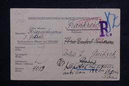 HONGRIE - Carte De Prisonnier Pour Un Docteur à Paris , Redirigé Vers Ugine En 1915 , Censure De Vienne - L 22483 - Hongrie