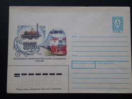 Railroads Train Centenary Of Railway Mint Stationery Russia 66038 - Eisenbahnen