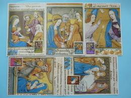 Carte Maximum Card (x5) Noel Christmas Caritas Luxembourg 1987 - Cartes Maximum