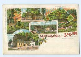 T5362-3457/ Schiesshaus Im Solling Bei Deensen Litho AK Ca.1900 - Allemagne