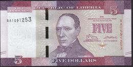 Liberia 5 Dollar 2016 P31 UNC - Liberia