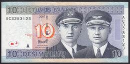 Lithuania 10 Litu 2007 P68 UNC - Lithuania