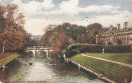 """Clare College And Bridge..Cambridge"" Tuck Oilette Posttcard # 7150 - Tuck, Raphael"