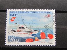 *ITALIA* USATI 2001 - CAPITANERIE DI PORTO - SASSONE 2554 - LUSSO/FIOR DI STAMPA - 6. 1946-.. Repubblica