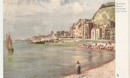 """""""Frank Emanuel. Hastings Beach From The Old Town"""" Tuck Art Quaint Corners Series PC # 1173 - Tuck, Raphael"""
