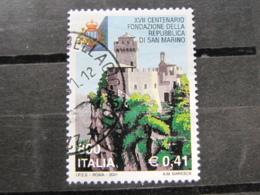 *ITALIA* USATI 2001 - 17° CENT REP SAN MARINO - SASSONE 2553 - LUSSO/FIOR DI STAMPA - 6. 1946-.. Repubblica