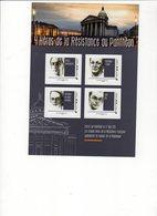Bloc   Feuillet. Collector  Neuf Et Non Plié LES HEROS DE LA RESISTANCE AU PANTHEON , 4 Timbres Lettre Verte - Blocs & Feuillets