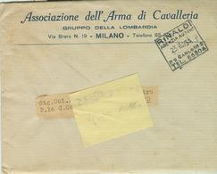 """""""ASSOCIAZIONE ARMA DI CAVALLERIA""""MILANO,1934,INVITO INAUGURAZIONE SEZIONE DI LEGNANO,TIMBRO POSTE RINALDI AGENZIA AUTOR. - Programmi"""