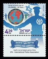 2012Israel2301IPA - International Police Association, Israel - 50 Years - Gebraucht (mit Tabs)