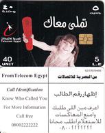 EGYPT - Little Girl, Telecom Egypt Telecard 5 L.E., CN : G203, Chip GEM3.3, Used - Egypt