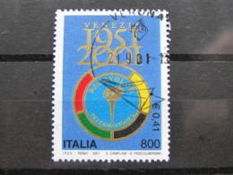 *ITALIA* USATI 2001 - 50° PANATHLON INTERNATIONAL - SASSONE 2551 - LUSSO/FIOR DI STAMPA - 6. 1946-.. Repubblica