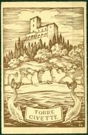 CARTOLINA - CV1746 TORRE CIVETTE (Grosseto GR) Bel Disegno Della Tenuta Vista Dal Mare, FG, Viaggiata 195.., - Grosseto