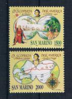 San Marino 1992 Kolumbus Mi.Nr. 1493/94 Kpl. Satz ** - San Marino