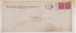 MAXWELL BRISCOE MOTOR CO. ENVELOPE CIRCULEE 1914 DETROIT A DAYTON. USA - BLEUP - United States