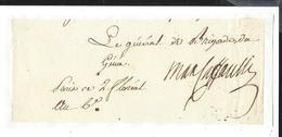 Louis Marie Maximilien De Caffarelli Du Falga (1756-1799) GENERAL AUTOGRAPHE ORIGINAL AUTOGRAPH 1798 /FREE SHIP. R - Autogramme & Autographen