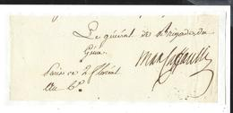 Louis Marie Maximilien De Caffarelli Du Falga (1756-1799) GENERAL AUTOGRAPHE ORIGINAL AUTOGRAPH 1798 /FREE SHIP. R - Autógrafos