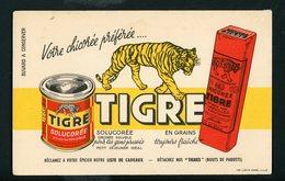 BUVARD: CHICORÉE TIGRE, Votre Chicorée Préférée - Buvards, Protège-cahiers Illustrés
