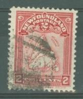 Newfoundland: 1908   Map Of Newfoundland   SG94   2c     Used - 1908-1947