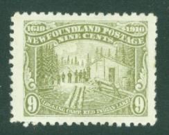 Newfoundland: 1910   Logging Camp   SG102     9c      MH - Newfoundland