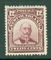 Newfoundland: 1911/16   Duke Of Connaught   SG126     12c      MH - Newfoundland