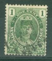 Newfoundland: 1911/16   Queen Mary   SG117a     1c   Blue-green   Used - Newfoundland