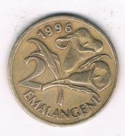 2 EMALANGENI 1996 SWAZILAND /1266/ - Swaziland