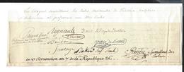 PROFESSEURS Dont DAVID ECOLE PEINTURE SCULPTURE ARCHITECTURE AUTOGRAPHE ORIGINAL AUTOGRAPH 1798 /FREE SHIP. R - Autographes