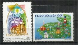 Noël Uruguayen, émissions 1997 à 1999: El Greco, Murillo, Vitraux, Etc  6 Timbres Neufs **  Côte 30,00 Euro - Uruguay