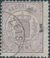 Paesi Bassi OLANDA-HOLLAND-NEDERLAND 1869-National Arms,2½ C, Violet - 1852-1890 (Guillaume III)