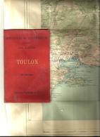 Toulon , Carte Topographique -ministère De L'intérieur - Feuille XXIV-36 Acec Tampon Vicinal, Tirage De 1887 - Cartes Topographiques