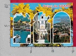 CARTOLINA VG ITALIA - Saluti Da LOANO (SV) - Vedutine Multivue - Mimosa - 10 X 15 - ANN. 1999 - Saluti Da.../ Gruss Aus...