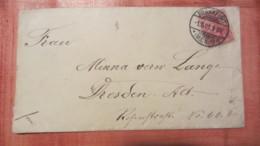DR: Brief Mit 10 Pf Germania (Reichspost) Von Frankfurt (Main) Nach Dresden Vom 1.5.1901 - Deutschland