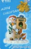 TARJETA TELEFONICA DE CHINA USADA. Merry Christmas - 1/4. MY-JLT-2002-13- (4-1). (228) - Navidad