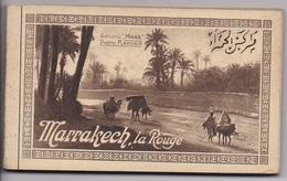 CARNET MAROC MARRAKECH La Rouge  20 Cartes Complet - Marrakech