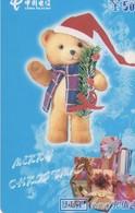 TARJETA TELEFONICA DE CHINA USADA. Merry Christmas - 1/4. MY-JLT-2002-13- (4-2). (229) - Navidad