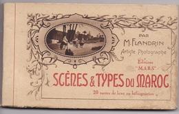 CARNET MAROC Scenes Et Types    20 Cartes Complet - Maroc