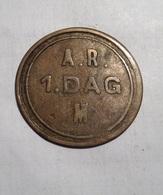 TOKEN GETTONE A.R. 1 DAG M. - Monétaires/De Nécessité