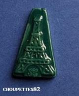 Fèves Fève Ancienne Tour Eiffel Vert Foncé *772* - Olds