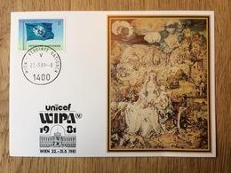 United Nations 1981, Postcard Unicef WIPA - Wenen - Kantoor Van De Verenigde Naties