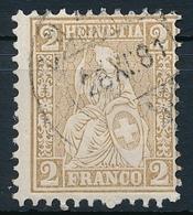 37 / 29 Sitzende Helvetia 2 Rappen Sauber Gestempelt - Verzähnt - 1862-1881 Helvetia Assise (dentelés)