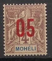 Moheli - 1912 - N°Yv. 17 - 05 Sur 4c - Neuf Luxe ** / MNH / Postfrisch - Moheli (1906-1912)