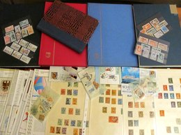 Carton With Stamps In Albums From Estate. Many Stamps Are In MNH ** Condition. All As Schown, But Not All Has Been Pics - Timbres