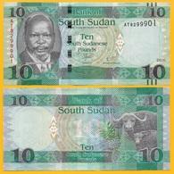 South Sudan 10 Pounds P-12b 2016 UNC - South Sudan