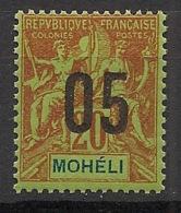 Moheli - 1912 - N°Yv. 18 - 05 Sur 20c - Neuf Luxe ** / MNH / Postfrisch - Moheli (1906-1912)