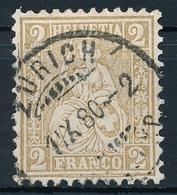 37 / 29 Sitzende Helvetia 2 Rappen Sauber Gestempelt - Zürich - Used Stamps