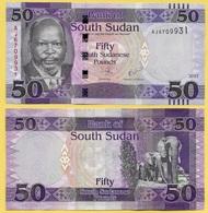 South Sudan 50 Pounds P-14c 2017 UNC - Soudan Du Sud